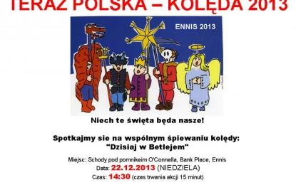 Polski Flash Mob – Kolęda 2013 w Ennis ! Dołączysz?
