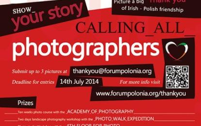"""Konkurs fotograficzny """"Thank you Ireland""""."""